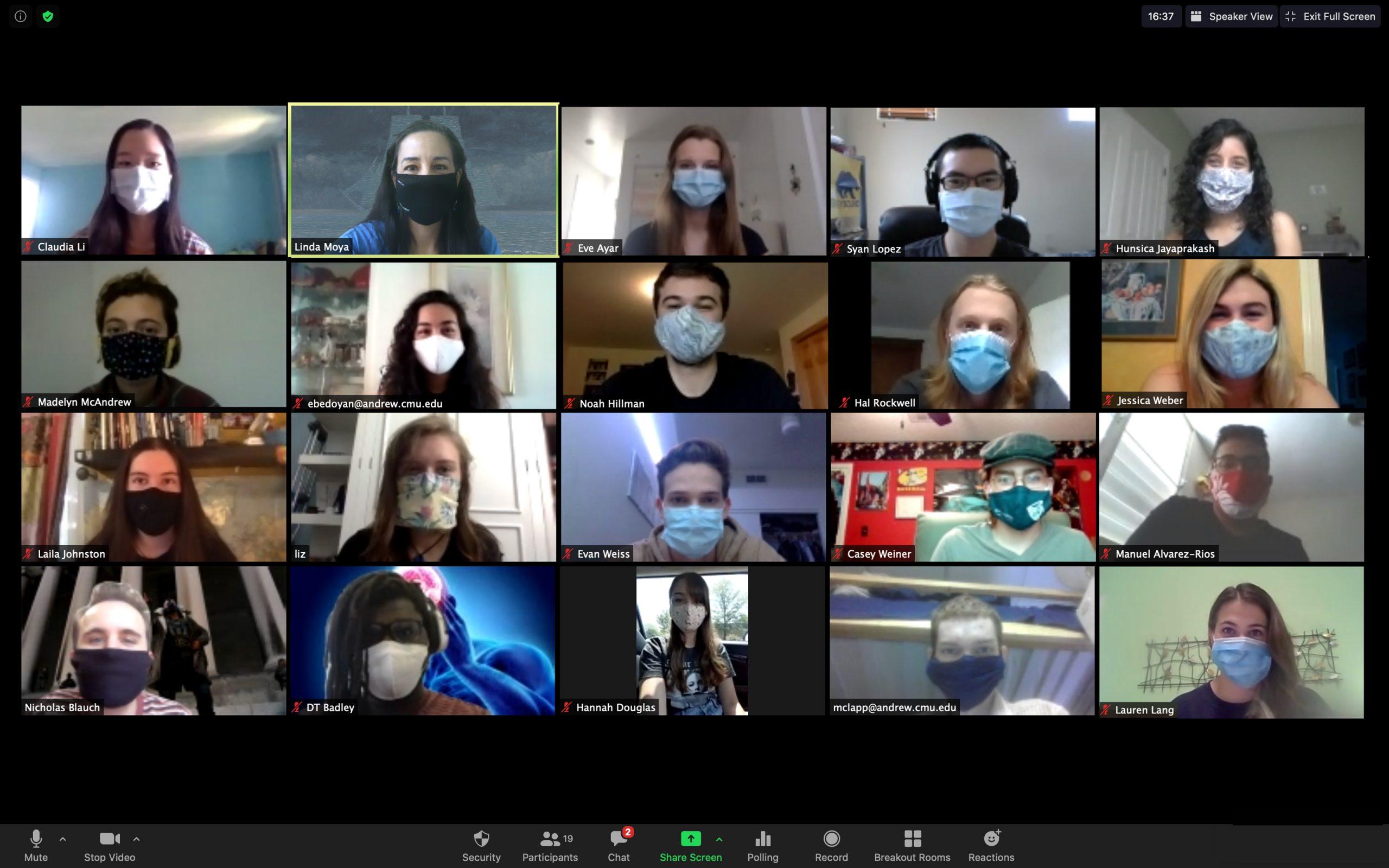 2020 uPNC students (masks)